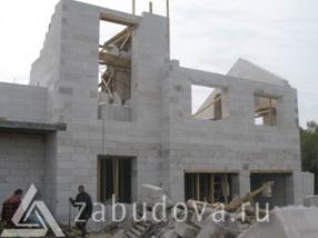 строительство частного дома из стеновых блоков