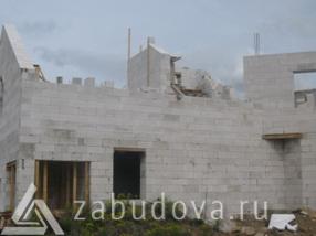 строительство стен дома из блоков